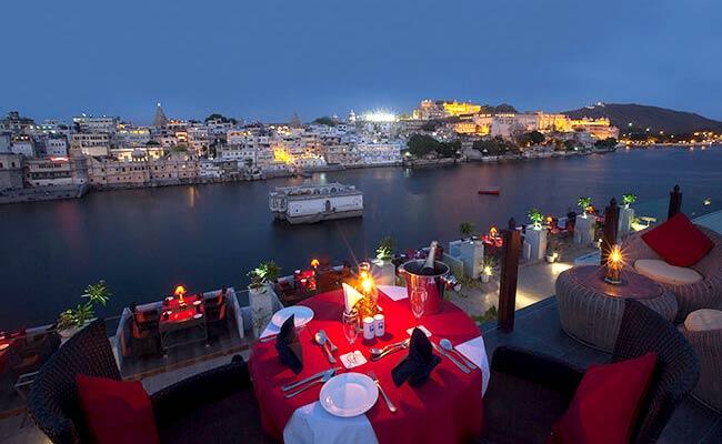 Rooftop Restaurant near Pichola Lake
